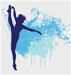 ballet dancer leg up illustration vector image vector image