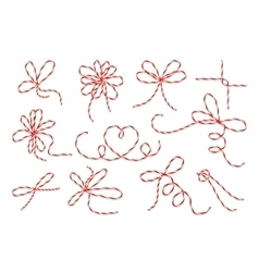 Gift twine bows set vector image vector image
