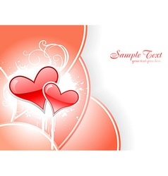 Heart with space for text vector image