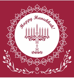Jewish Hanukkah holiday background vector image vector image