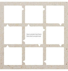 Modern soft color Design template of paper vector image