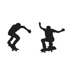Skateboarder silhouette vector