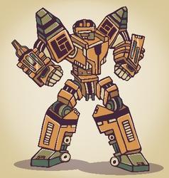 Super War Robot vector image