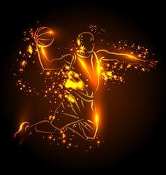 a basketball player vector image