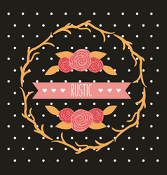 decorative rustic vintage collar vector image