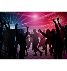 disco dance vector image vector image