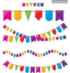 flag garland vector image vector image