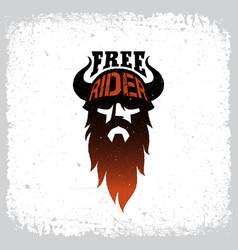 free rider label vector image vector image