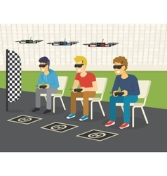 Quadrocopter racing competition new sport vector