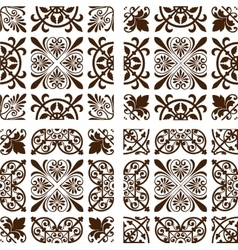 Set of 4 wallpapers vector image