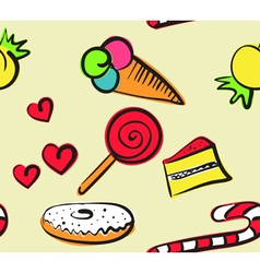 sweets seamless doodle vector image vector image