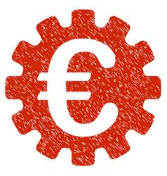 euro gear icon grunge watermark vector image vector image