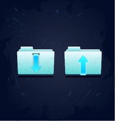 folder download concept vector image