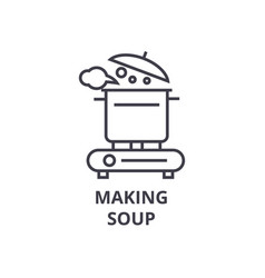 making soup line icon outline sign linear symbol vector image