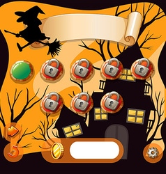 Screensaver of halloween theme game vector image