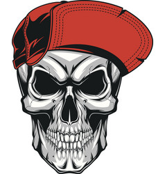 Skull in a red cap vector
