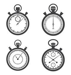 Stopwatches and a chronometer vector image
