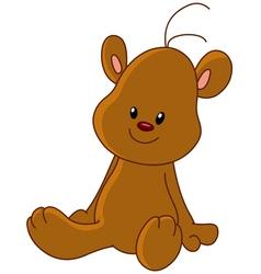 teddy bear sitting vector image vector image