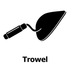 trowel icon simple black style vector image vector image