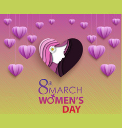 8 march international happy womens day greeting vector image