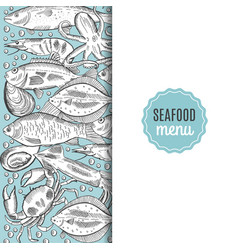 a fish menu for a vector image
