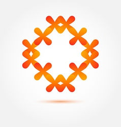 Abstract symbol in orange colors made of many vector