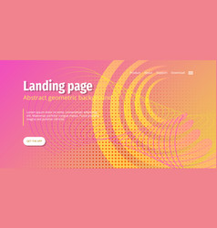 Asbtract background design landing page vector