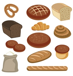 Bakery and pastry products vector image