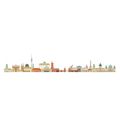 berlin skyline 7 vector image