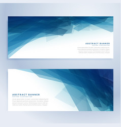 Blue abstract banners in blue shade vector