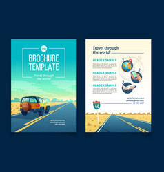 Brochure template with tourist concept vector