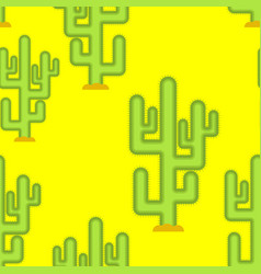 Cactus in desert seamless pattern large peyote vector