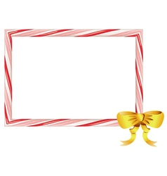 Candy Cane Frame5 vector image
