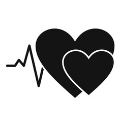 cardiology icon simple style vector image