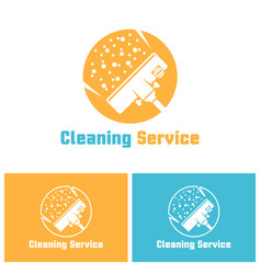 cleaning service isolated logo template vector image