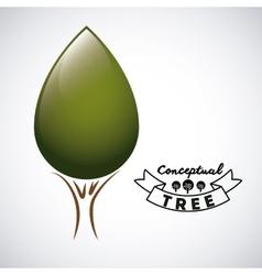 Conceptual tree design vector