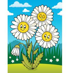 Daisy flower theme image 2 vector