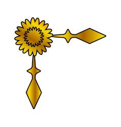 decoration ornament floral golden vector image