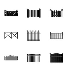 door icons set simple style vector image