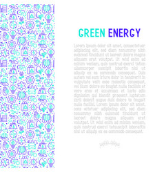ecology and green energy concept vector image
