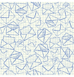 Envelope doodles seamless pattern vector image