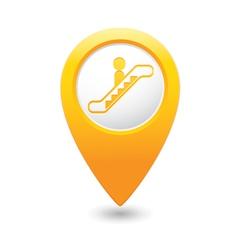 Escalator icon yellow map pointer4 vector
