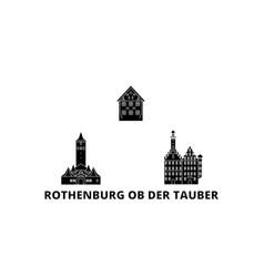 Germany rothenburg ob der tauber flat travel vector