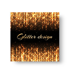 Greeting card with golden rays vector
