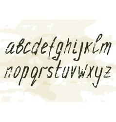 Grunge scratch type font vintage typography vector image