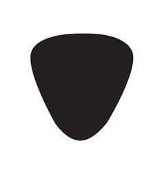 guitar pick icon design vector image