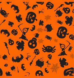 halloween orange pattern vector image