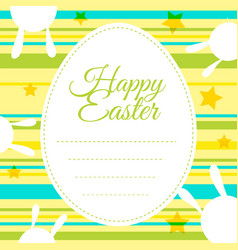 happy easter card template with colorful vector image