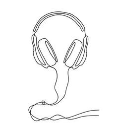 Headphones on a white background vector
