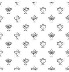 ice hockey cup pattern seamless vector image